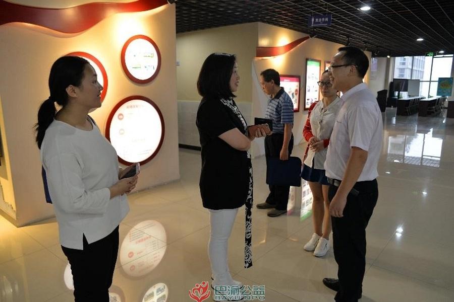 市妇女社会组织服务中心李彬一行到国贸中心参观调研学习