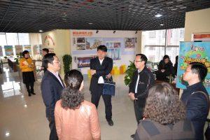 团中央办公厅书记办主任黄鹤一行到国贸中心党群服务中心考察调研