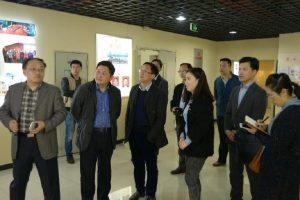 两江新区党工委组织部到国贸中心党群服务中心调研