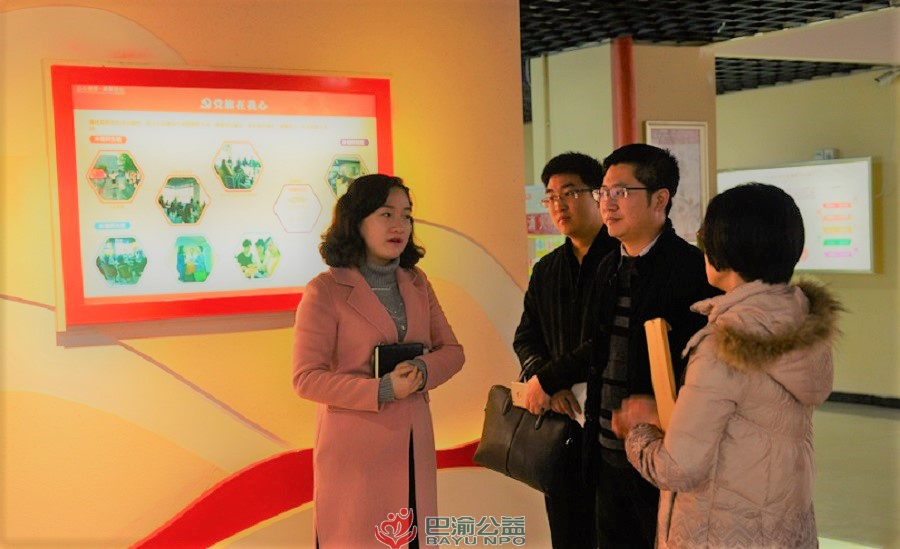 团市委组织部副部长周川到国贸中心群团服务站调研