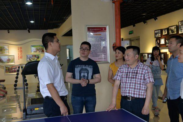 南充市顺庆区委组织部副部长唐健波一行到国贸中心调研