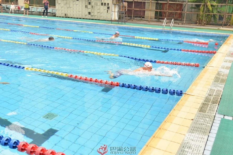 """渝中区总工会购买社会服务项目""""党群杯""""职工游泳比赛顺利举行"""