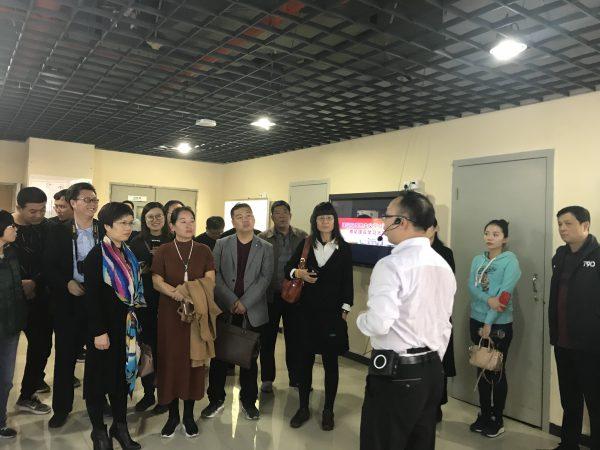 河北沧州中小企业家一行参观学习国贸中心党群服务工作