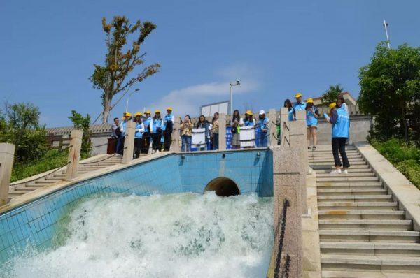 巴渝公益组织志愿者参观永川区城区污水处理厂