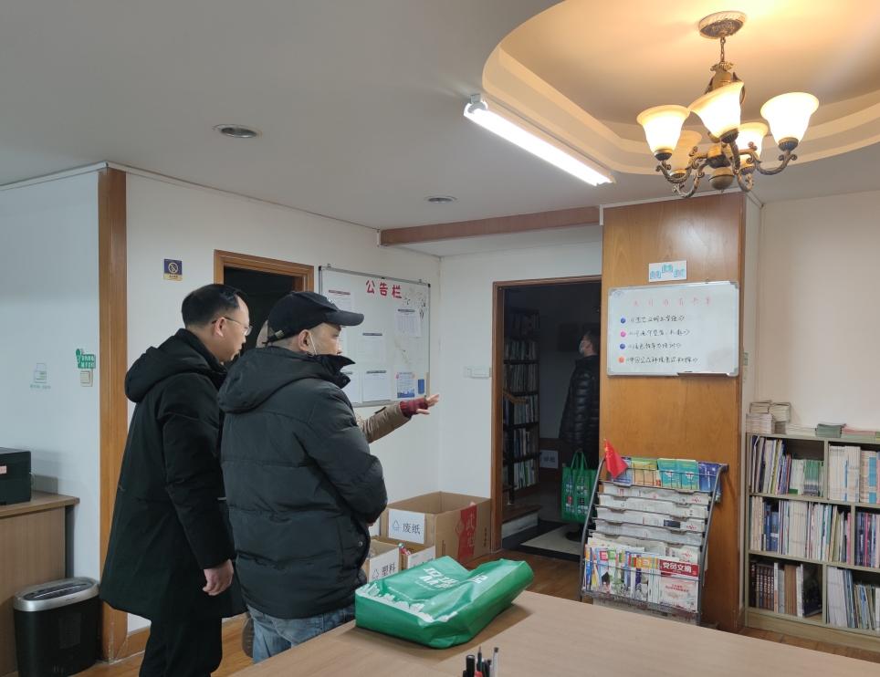 区民政局到巴渝公益验收文明单位创建工作